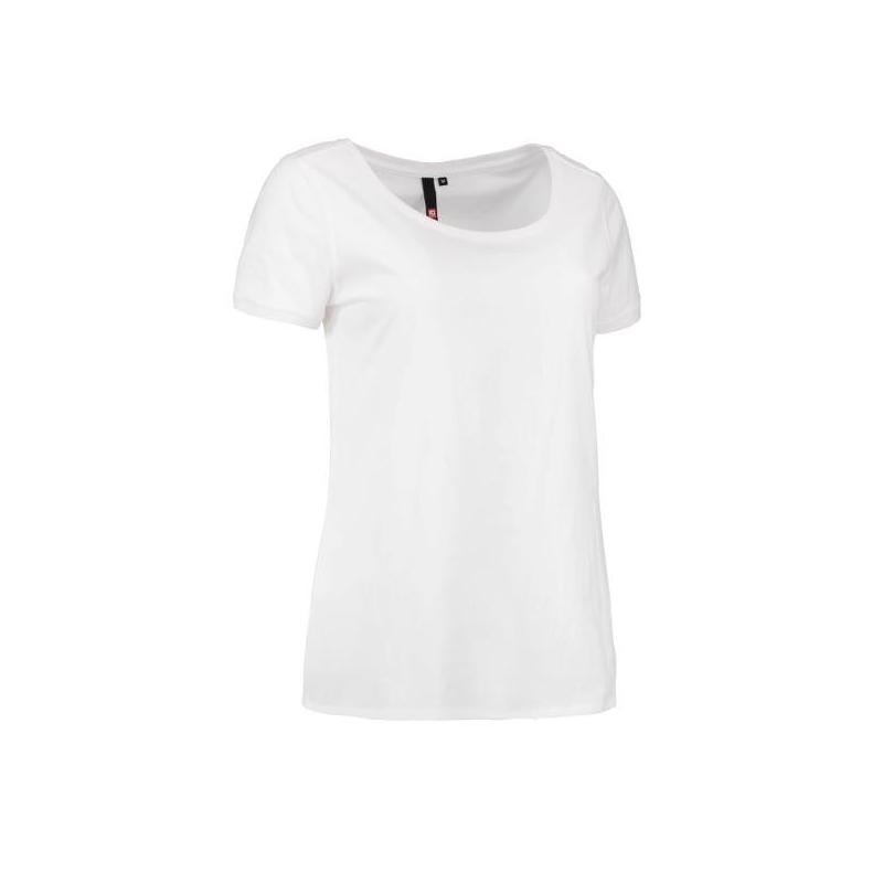 Heute im Angebot: CORE O-Neck Tee Damen T-Shirt 541 von ID / Farbe: weiß / 100% BAUMWOLLE in der Region Michendorf