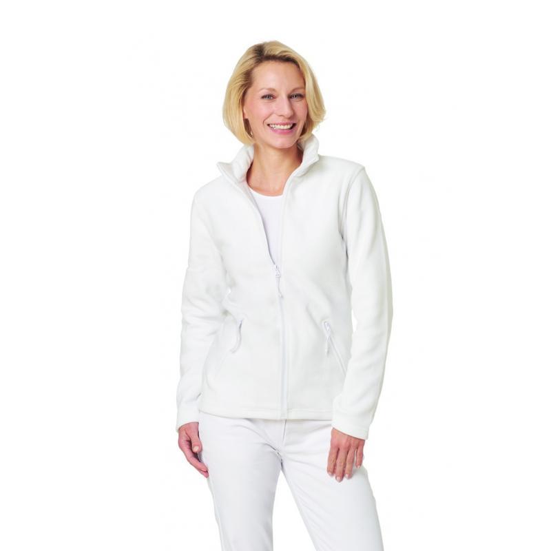 Heute im Angebot: Fleecejacke (Damen) 2662 von LEIBER / Farbe: weiß / 100 % Polyester jetzt günstig kaufen