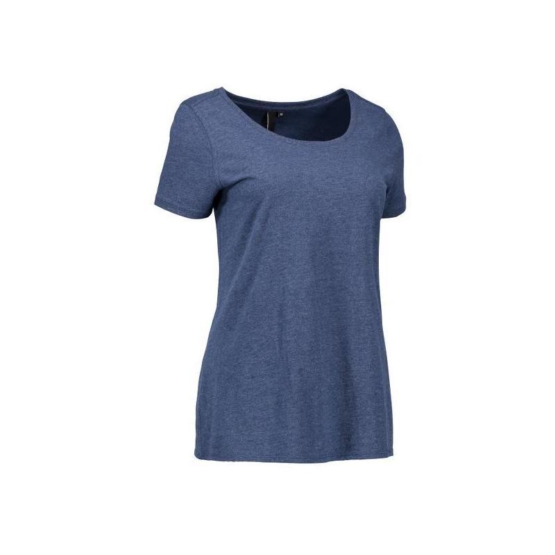 Heute im Angebot: CORE O-Neck Tee Damen T-Shirt 541 von ID / Farbe: blau / 100% BAUMWOLLE in der Region Oldenburg