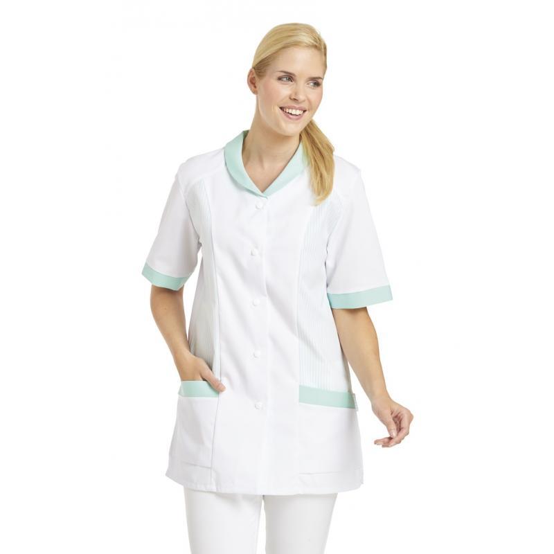 Heute im Angebot: Hosenkasack 800 von LEIBER / Farbe: weiß-mint / 65 % Polyester 35 % Baumwolle in der Region Herten