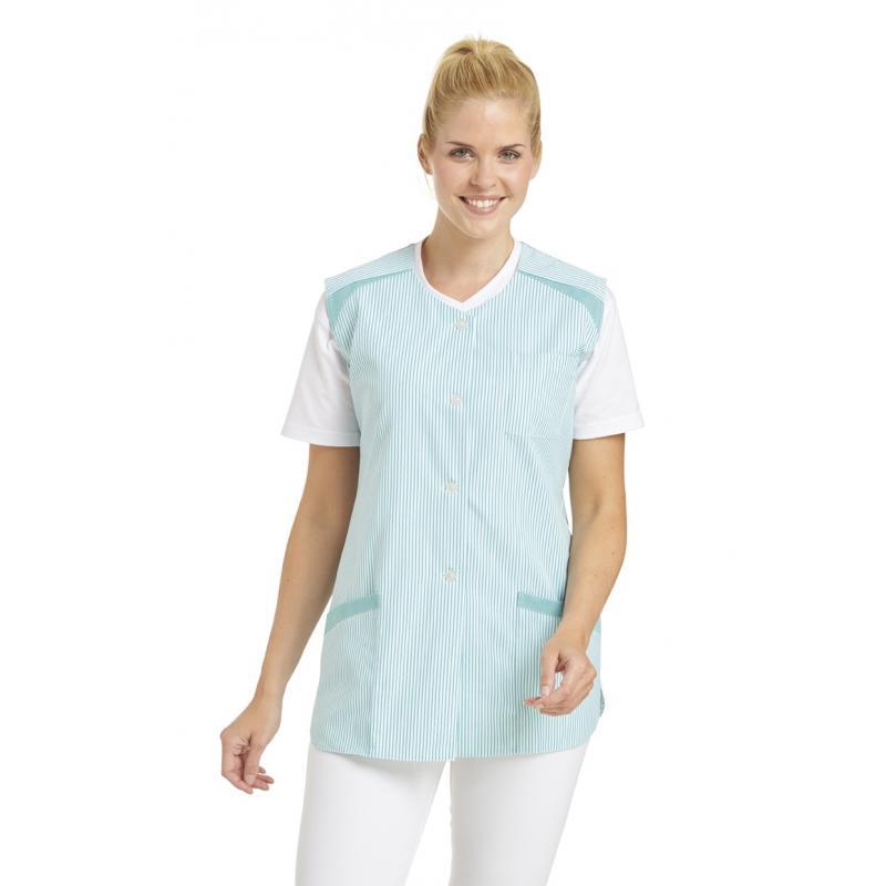 Heute im Angebot: Kasack ohne Arm 706 von LEIBER / Farbe: reseda / 65 % Polyester 35 % Baumwolle jetzt günstig kaufen