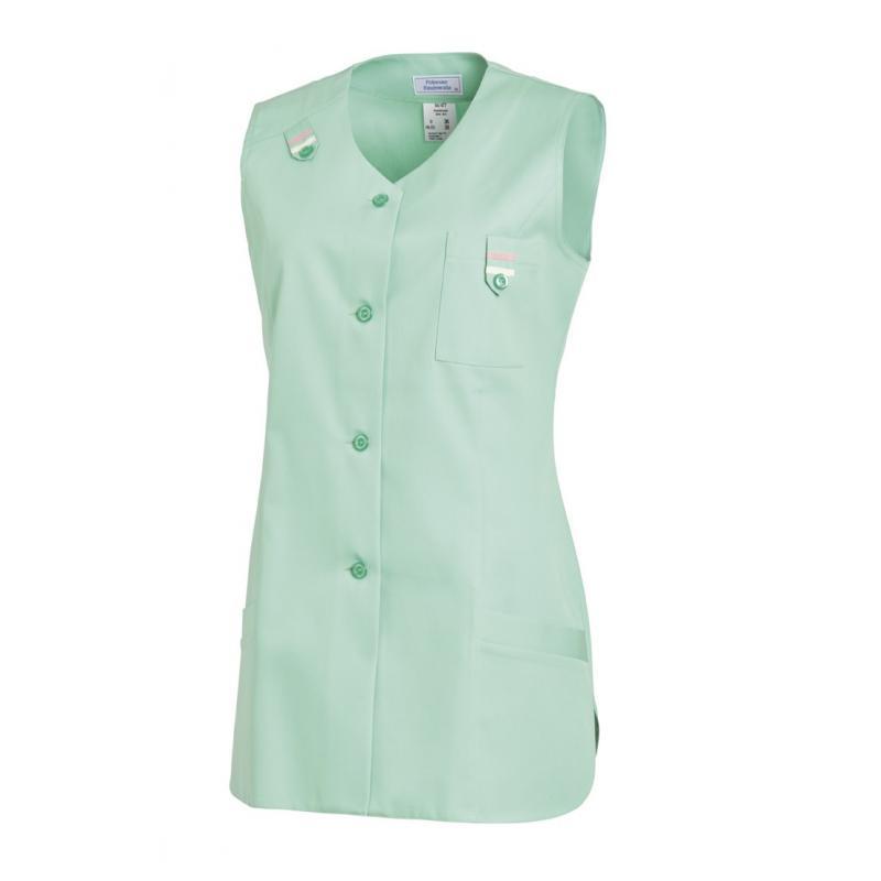 Heute im Angebot: Kasack ohne Arm 477 von LEIBER / Farbe: reseda / 65 % Polyester 35 % Baumwolle
