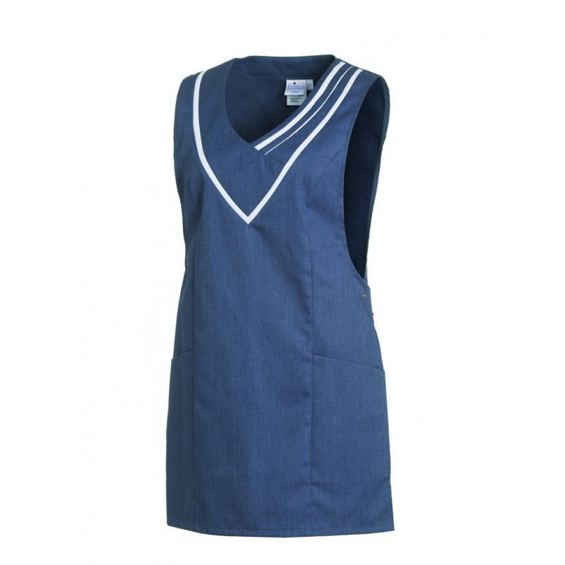 Heute im Angebot: Überwurfschürze 2682 von LEIBER / Farbe: blau-weiß / 65 % Polyester 35 % Baumwolle in der Region Ratingen