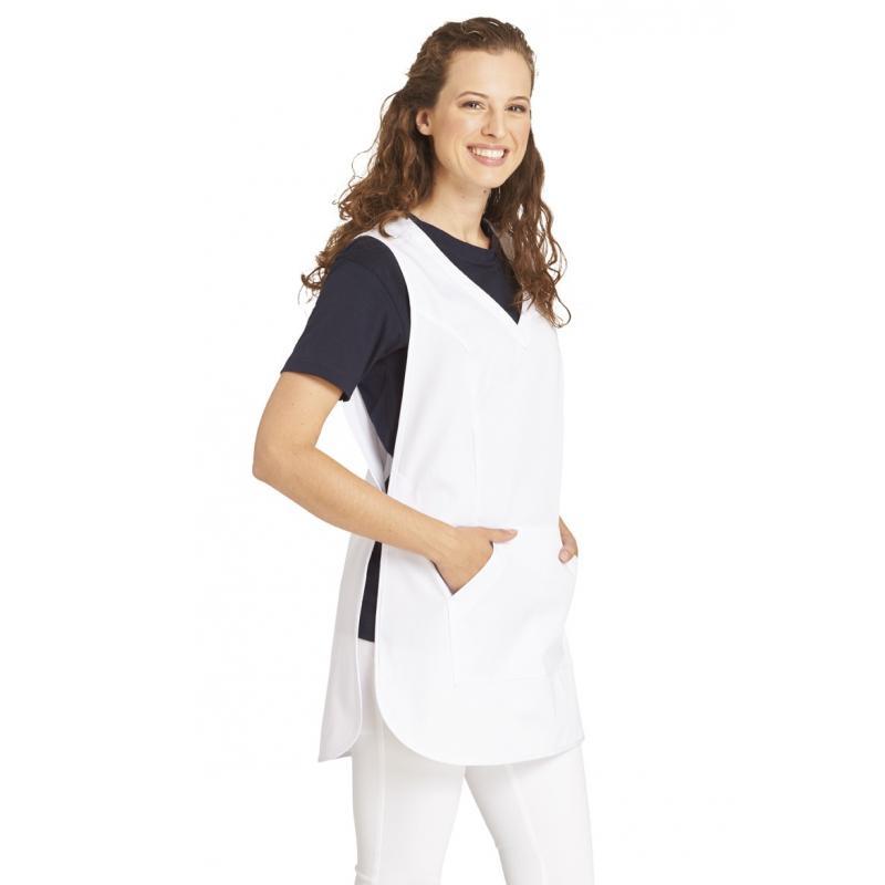 Heute im Angebot: Überwurfschürze 641 von LEIBER / Farbe: weiß / 65 % Polyester 35 % Baumwolle