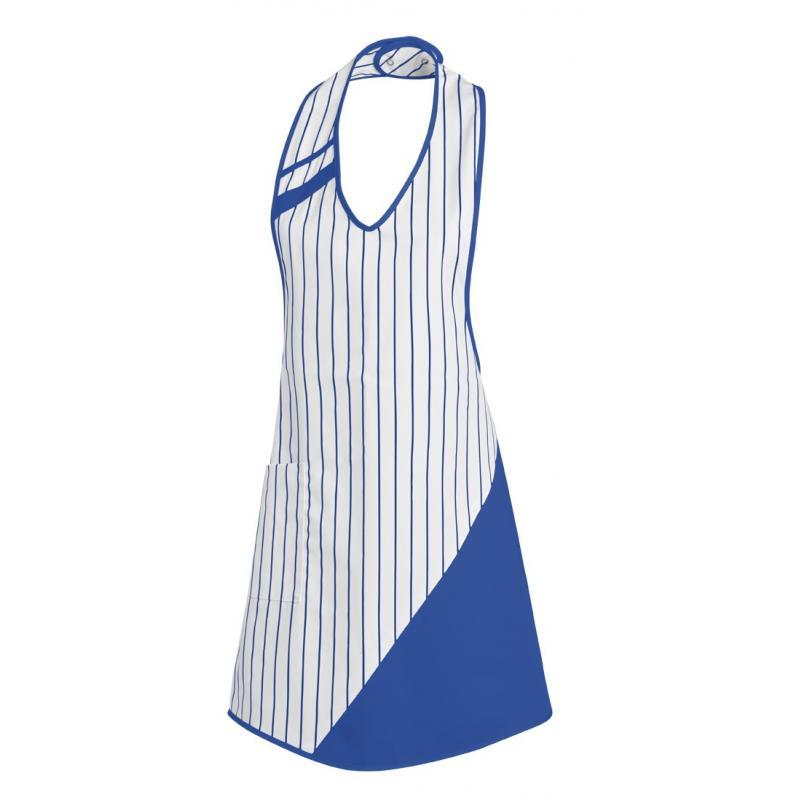 Heute im Angebot: Überwurfschürze 738 von LEIBER / Farbe: weiß-königsblau / 65 % Polyester 35 % Baumwolle in der Region Sindelfingen