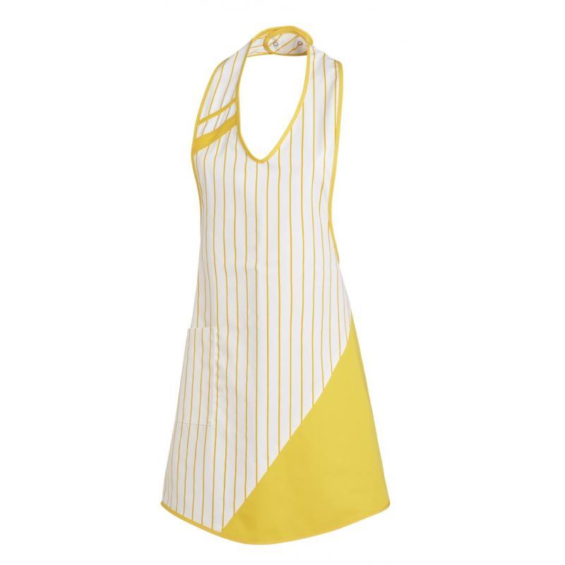 Heute im Angebot: Überwurfschürze 738 von LEIBER / Farbe: weiß-gelb / 65 % Polyester 35 % Baumwolle in der Region Heidesee