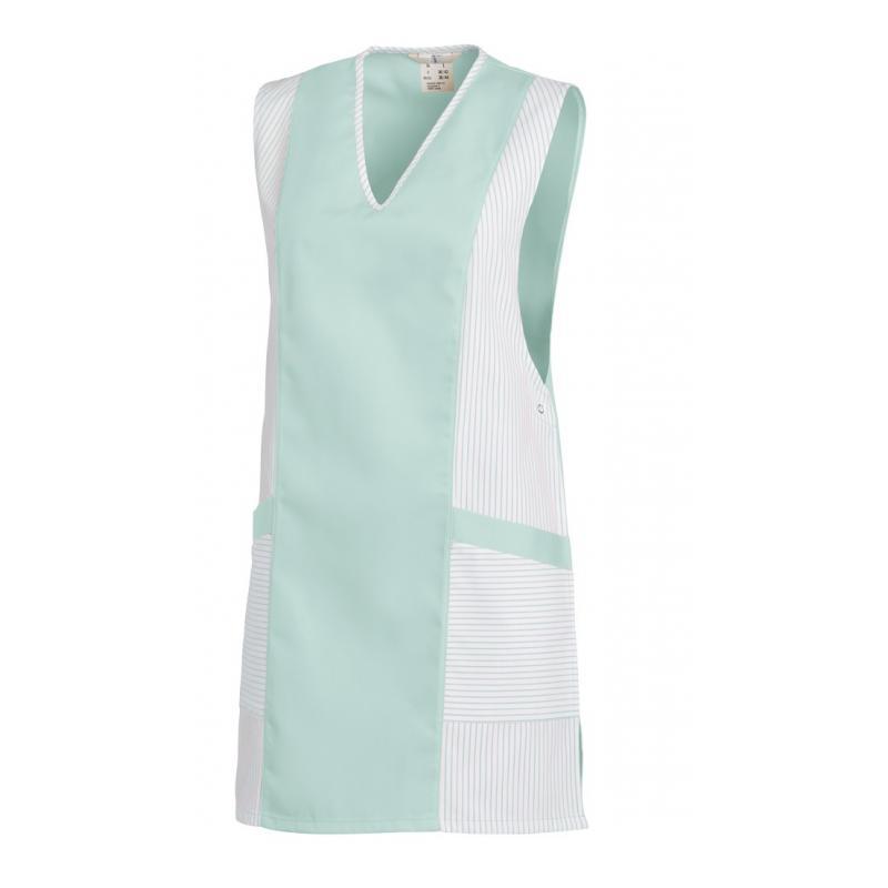 Heute im Angebot: Chasuble 264 von LEIBER / Farbe: weiß-mint / 65 % Polyester 35 % Baumwolle