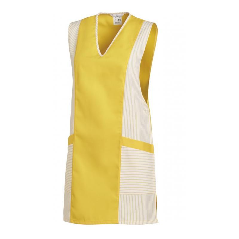 Heute im Angebot: Chasuble 264 von LEIBER / Farbe: weiß-gelb / 65 % Polyester 35 % Baumwolle