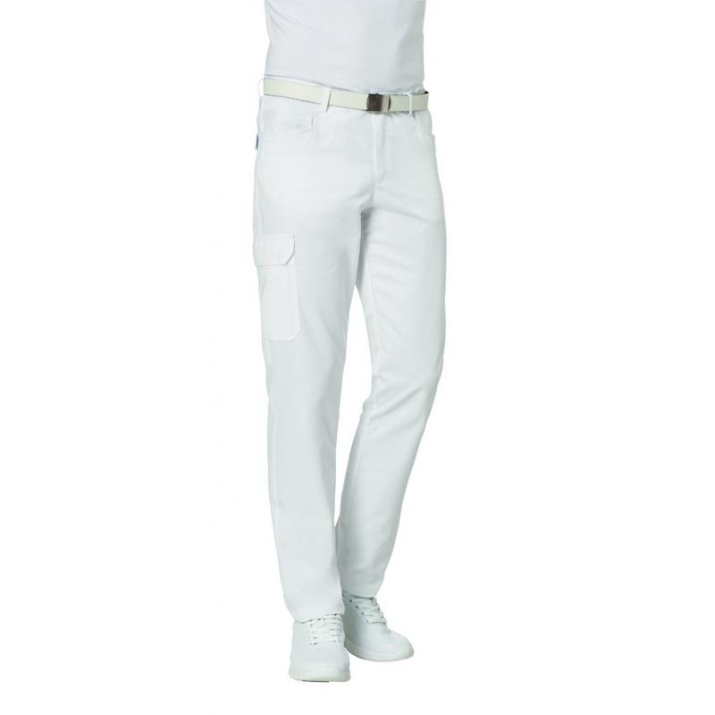Heute im Angebot: Herrenhose 7720 von LEIBER / Farbe: weiß / 50 % Baumwolle 50 % Polyester