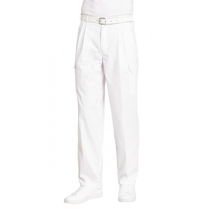 Heute im Angebot: Cargohose (Herren) 1390 von LEIBER / Farbe: weiß / 65 % Polyester 35 % Baumwolle jetzt günstig kaufen
