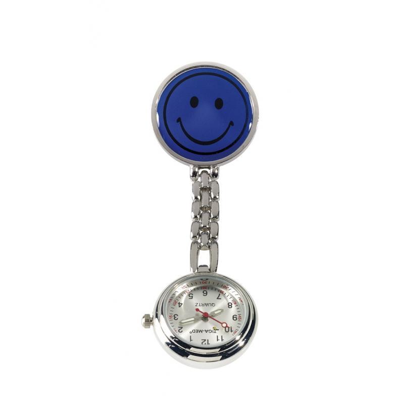 Heute im Angebot: Ansteckuhr 2545 von LEIBER / Farbe: marine / mit Kette und Clip jetzt günstig kaufen